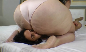 Buried and abused underneath ssbbw joyce´s booty
