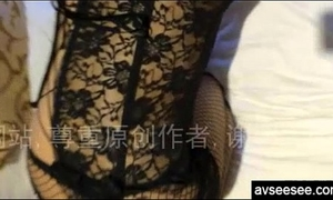 Chinese dilettante Married slut with hot underware taking homemade movie scene