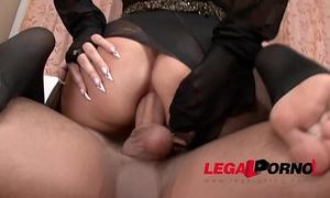 Ultra freaky vixen anna nova in double hose fetish with hard anal fuck.