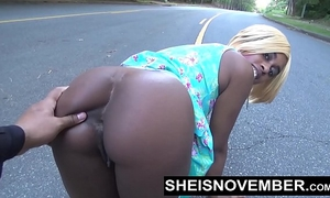 Risky centre of street oral pleasure & large wazoo ebon a-hole out for stranger msnovember