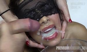 Premium bukkake - victoria swallows 81 massive mouthful cum loads