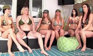 Vicky vette's 6 slutwife lesbo orgy!