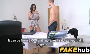 Female agent skinny agent can't live without being overspread in recent warm cum