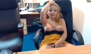 Natural beauty of emmafantasy21 on webcam. office role game scene. natural zeppelins.