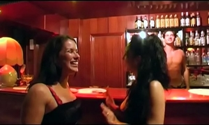 Lesbo sex on the dancefloor