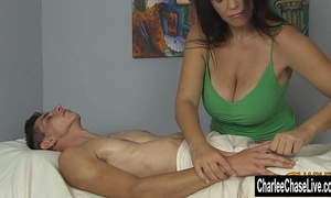 Charlee pursue large tit pleased ending massage