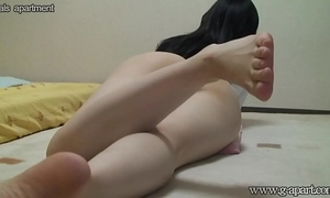 Peeping the japanese wife yoga exercise