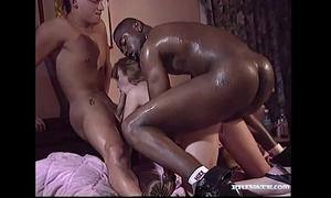 Interracial trio with magerita