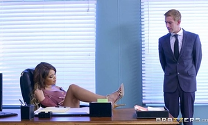 Brazzers - cassidy banks gets some large white jock at work