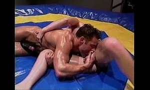 Baby-oil wrestling and screwing -- hot!