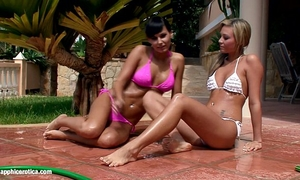 Water seduction by sapphic erotica - lesbo love porn with carie - natali