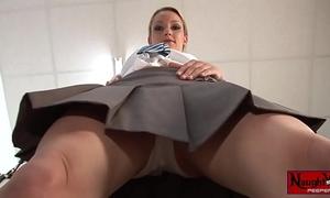 Horny school white wife masturbates upskirt white panty tease
