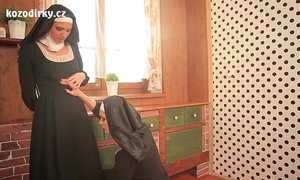 Two hawt catholic nuns praying togather in the lesbo touch