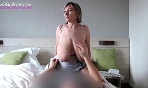 Barbara intensive large tit grabs