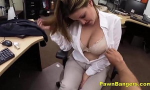Busty slutwife trades with her love muffins and cum-hole for money
