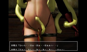 Tentacles chastise the dragon warrior