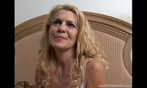 Lovely mature cheating wife lies back and copulates her wet vagina for u