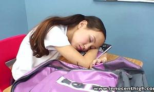 Innocenthigh teacher banging slender oriental legal age teenagers taut muff