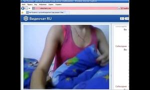 Small russian mambos slutty wife on livecam chat flashing love melons and mastrubating