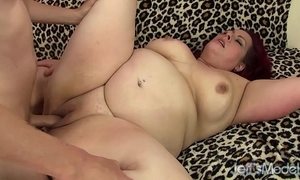 Chubby cum-hole drilled