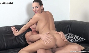 Mea melone creampied by muscle fellow matt in her reality show