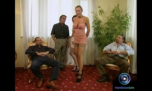 Adventurous bffs tried 3 fellows to receive their fascinating pussies screwed