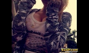 Hot blond legal age teenager girlfriend shows boyfriend cum-hole pantoons on webcam