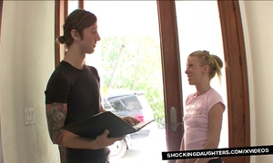Neighbors daughter acquires pounded with bigcock