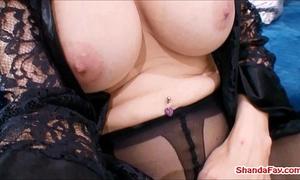 Canadian crotchless stocking wench! shanda fay!