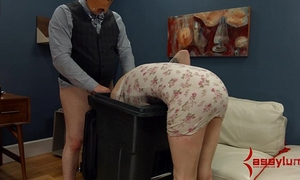 Goth horny white wife receives anal castigation and facefucking in the garbage
