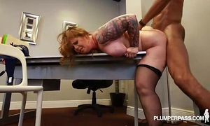 Redhead milf vayna can't live without to fuck large dark schlongs