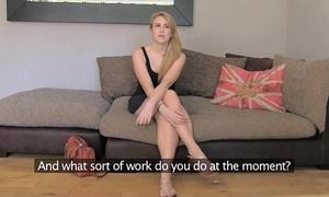 Fakeagentuk dilettante tattooed model despairing to acquire into porn