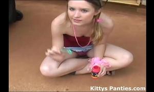Blowing bubbles in my diminutive little petticoat