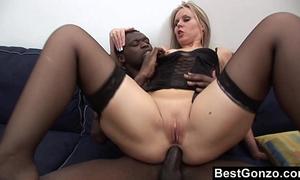 Black weenie in her taut butt