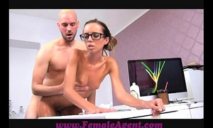 Femaleagent milf receives all oiled by massuse man