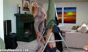Mommybb breasty milf julia ann is engulfing my fastened up boyfriend!