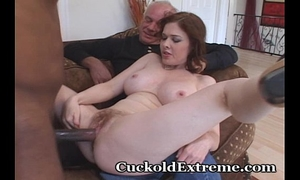 Intense BBC slut and her cuckold hubby