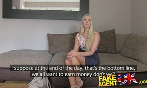 Fakeagentuk south african chick put throughout paces in fake casting