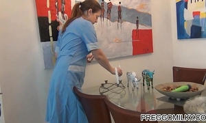 Blowing candle with my squirting billibongs extraordinary humorous lactation