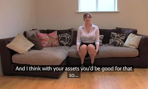 Fakeagentuk non-professional british white wife with biggest bra buddies acquires multiple orgasms
