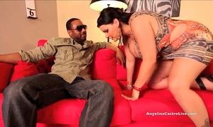 Big titted angelina castro pounded hard by large dark penis!