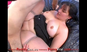 Fat whore drilled ! grosse salope bien enculee !! french non-professional