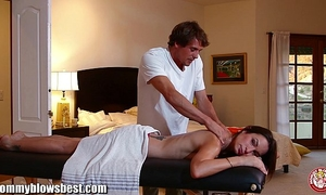 Mommybb amber rayne's indecent massage ends in a fucking session