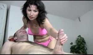 Naughty milf gives a tugjob massage