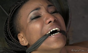 Flexible ebon ache doxy in lezdom servitude