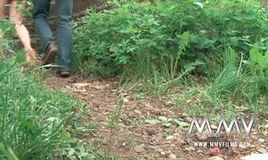 Mmv films cute legal age teenager screwed outdoor