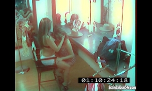 Cctv captures a hawt and skanky lesbo affair