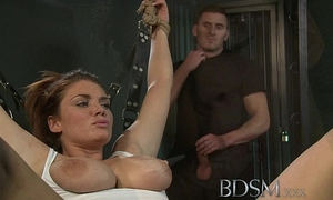 Bdsm xxx caged and manacled slaves receive a wonderful slapping previous to from doms