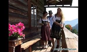 Busty german sweethearts make male tourists feel like in heaven