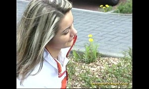 Pick up german golden-haired for her 1st anal